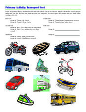 Primary Activity: Transport Sort Worksheet