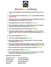 Environmental Survey Worksheet