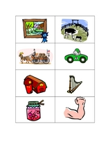 Phonics Cards: ar Worksheet