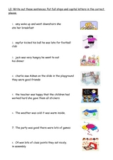 Capital Letters and Punctuation Worksheet