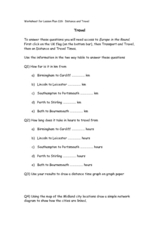 Travel in Europe Worksheet