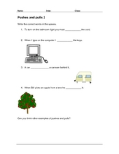 Pushes and Pulls 2 Worksheet