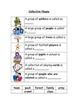 Collective Nouns 2 Worksheet