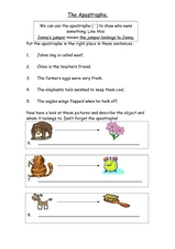 Apostrophe Worksheet