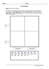 Carroll Diagram Worksheet