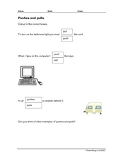 Pushes and Pulls Worksheet