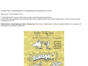 Simulating the Constitutional Convention of 1787 Lesson Plan