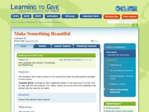 Make Something Beautiful Lesson Plan