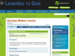 Saving Makes Cents Lesson Plan