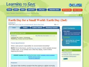 Earth Day for a Small World Lesson Plan