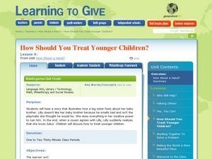How Should You Treat Younger Children Lesson Plan