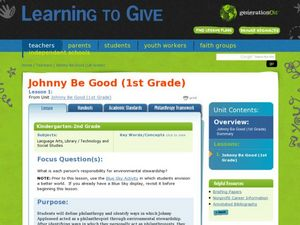 Johnny Be Good: Earth Day Lesson Plan