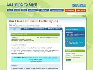 Our Class, Our Earth day Lesson Plan