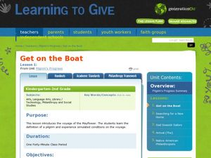 Pilgrim's Progress- Get on the Boat Lesson Plan