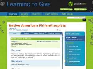 Native American Philanthropists Lesson Plan
