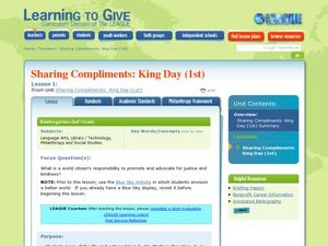 Sharing Compliments- King Day Lesson Plan