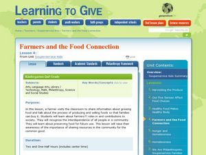 Farmers and the Food Connection Lesson Plan