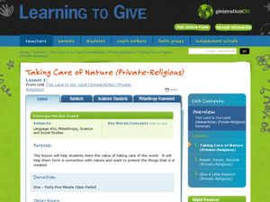 Taking Care of Nature (Religious) Lesson Plan