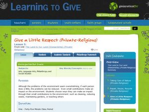 Give a Little Respect Lesson Plan