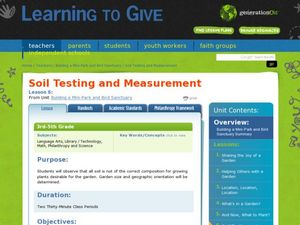 Soil Testing and Measurement Lesson Plan