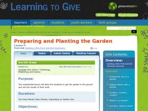 Preparing and Planting the Garden Lesson Plan