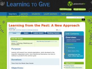 Learning from the Past: A New Approach Lesson Plan