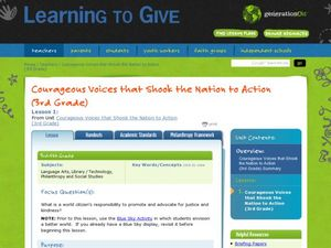 Courageous Voices that Shook the Nation to Action Lesson Plan