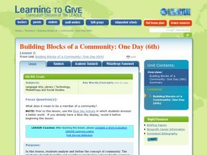Building Blocks of the Community Lesson Plan
