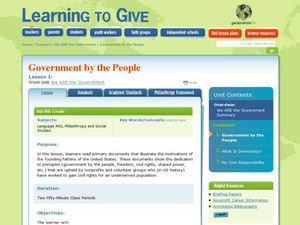 We Are the Government Lesson Plan
