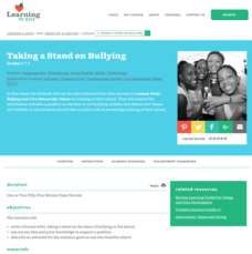 Taking a Stand on Bullying Lesson Plan