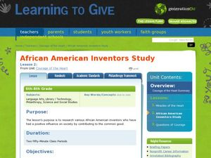 African American Inventors Study Lesson Plan