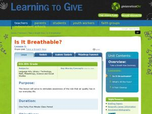 Is It Breathable? Lesson Plan
