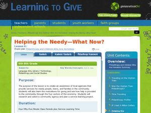 Helping the Needy - What now? Lesson Plan