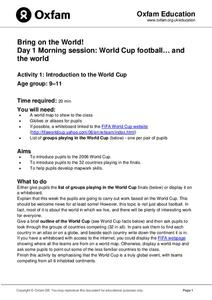 Bring on the World: Introduction to the World Cup Lesson Plan
