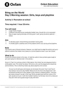 Bring on the World: Recreation at School Lesson Plan