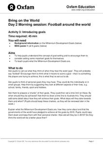 Football Around the World: Introducing Goals Lesson Plan