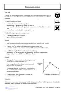Thermometric Titration Worksheet