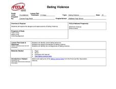 Dating Violence Lesson Plan