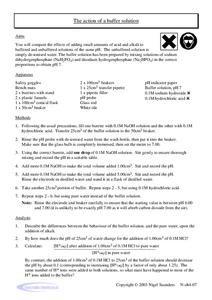 The Action of A Buffer Solution Worksheet