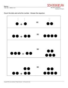 Math – Addition 1 to 10 Worksheet