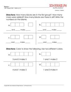 Addition up to 5 Worksheet