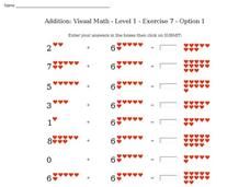 Addition: Visual Math - Level 1 - Exercise 7 - Option 1 Interactive