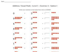 Addition: Visual Math - Level 1 - Exercise 4 - Option 1 Interactive