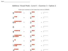 Addition: Visual Math - Level 1 - Exercise 3 - Option 2 Interactive