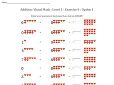 Addition: Visual Math - Level 1 - Exercise 9 - Option 1 Interactive