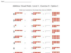 Addition: Visual Math - Level 1 - Exercise 8 - Option 1 Interactive