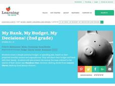 My Bank, My Budget, My Decisions Lesson Plan