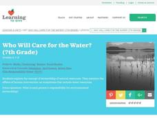 Who Will Care for the Water? Lesson Plan