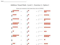 Addition: Visual Math - Level 1 - Exercise 2 - Option 1 Interactive