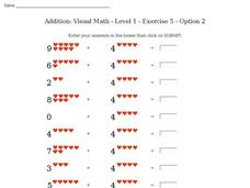 Addition: Visual Math - Level 1 - Exercise 5 - Option 2 Interactive